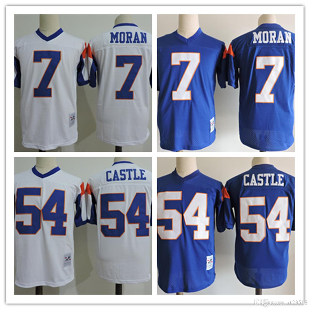 Mens White Cheap Movie Blue Mountain State Football Jersey Stitched  54  Kevin Thad Devlin Castle Jersey  7 Alex Moran Film Jerseys S 3XL UK 2019  From ... 244438779436