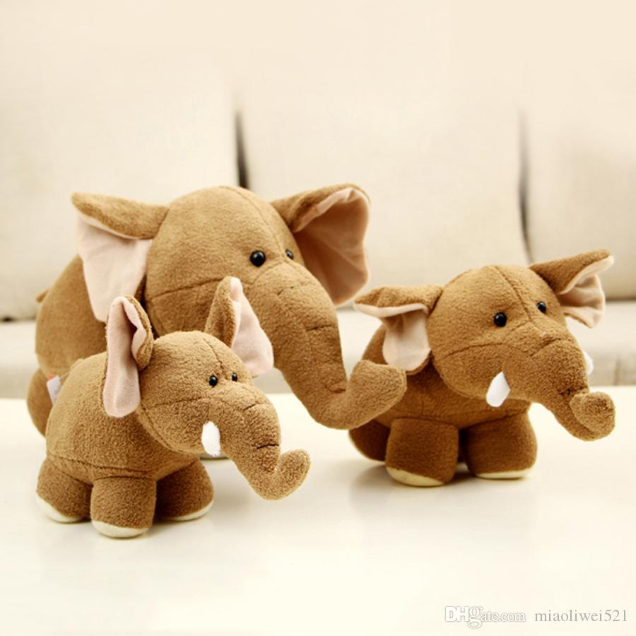 Online Cheap Cute Jungle Cartoon Animal Plush Toys Stuffed Elephants ...