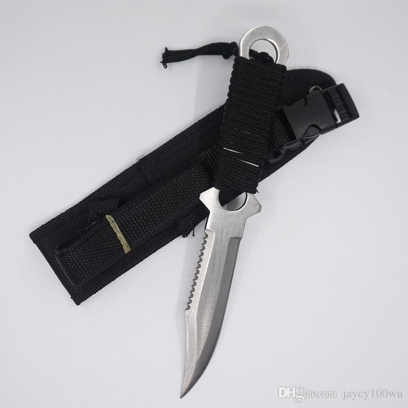 US Leggings Messer Tauchmesser Outdoor Taktische Überlebensmesser 420C Edelstahl Camping Werkzeug Feststehende Klinge Gerade Jagdmesser