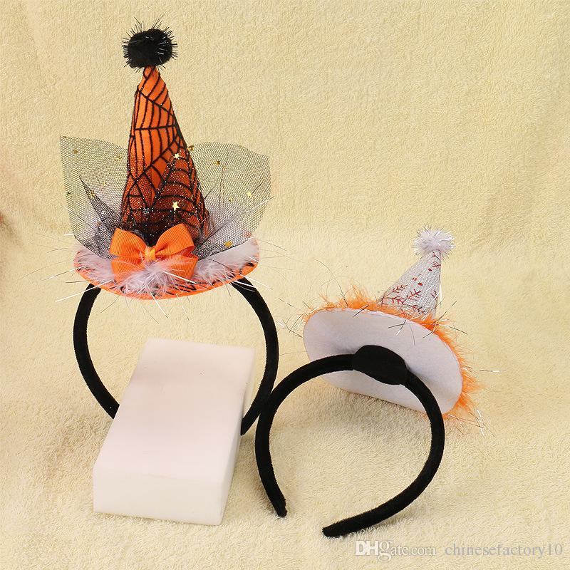 Kids Halloween Hair Sticks Spider Bat Unicorn Hair Bow Girls Festival Hair Accessories Cheer Bows Unicorn Headband