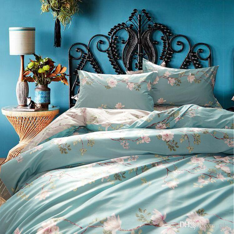 Riho 100% Pima Cotton Rural Floral Rose Elegant Comfortable Girls Bedding  Sets Bedding Sheets Bed In A Bag Duvet Covers Bedding Bedding Cheap From  Riho, ...