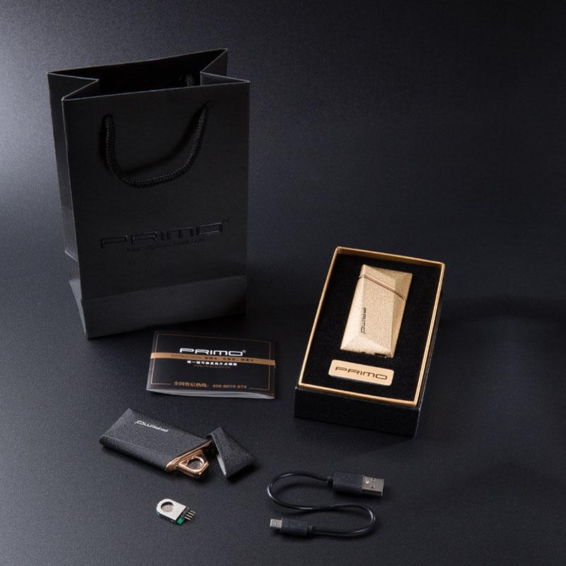 2017 Nowa marka Primo USB Ładowanie Shake the indukt USB lżejsze tytoń tytoń zapalniczki Creative Wiatroszczelna zapalniczka