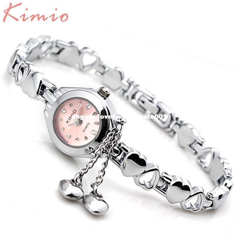f722145dda5 Compre KIMIO Simples Pequeno Dial Amor Decoração Pulseira Senhoras Famosas  Mulheres Marca De Luxo Relógios Das Mulheres De Quartzo Relógio Feminino  Relógio ...