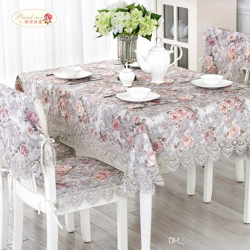 Exquisite Jacquard Lace Round Table Cloth/ Romantic Rural Tablecloth Table  Runner/ Modern Lace Tablecloth Kitchen Tablecloths Green Tablecloths From  ...