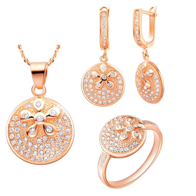 925 Sterling Silver pendant Earrings ring Women Gift word Jewelry sets NEW of suit made in Austria, Europe and the the high-end jewelry