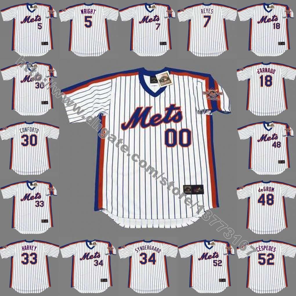 a05ffbf7f ... 2017 Mens Kid Women New York Mets 5 David Wright 18 DArnaud 30 Conforto  34 Syndergaard ...