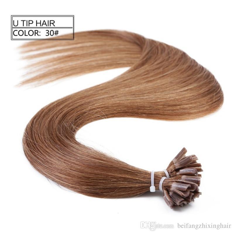Grade 10a 100 Human Remy Hair Double Drawn Nailu Tip In Hair