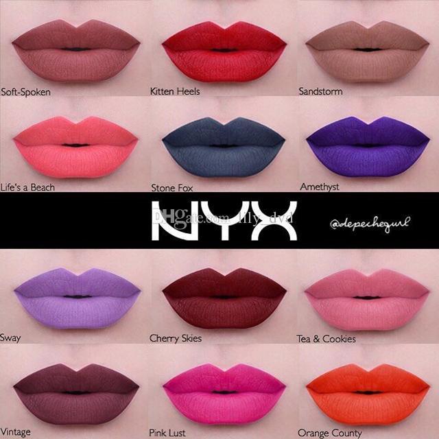 2016 BRAND NEW & SEALED NYX LIQUID SUEDE CREAM MATTE LIPSTICK waterproof NYX lip gloss dhl