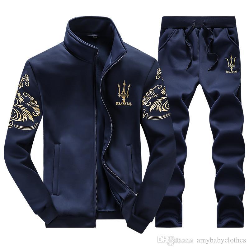 Compre Chándales Hombres Ocio Deporte Traje Ropa Deportiva De Lujo Para Hombres  Marca Hoodies Hip Hop Jogger Set Cool Sudadera Sudaderas Hombre A  37.51  Del ... ec8254563d8