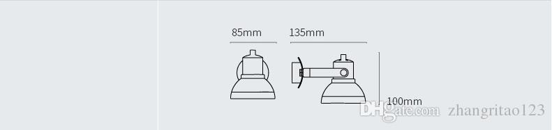 Criativo LEVOU Parede Lanps Nordic Moda Prata Parede De Ferro Modens Ajustável Arandela de Parede Luminárias Para Casa Lamparas Iuminaire