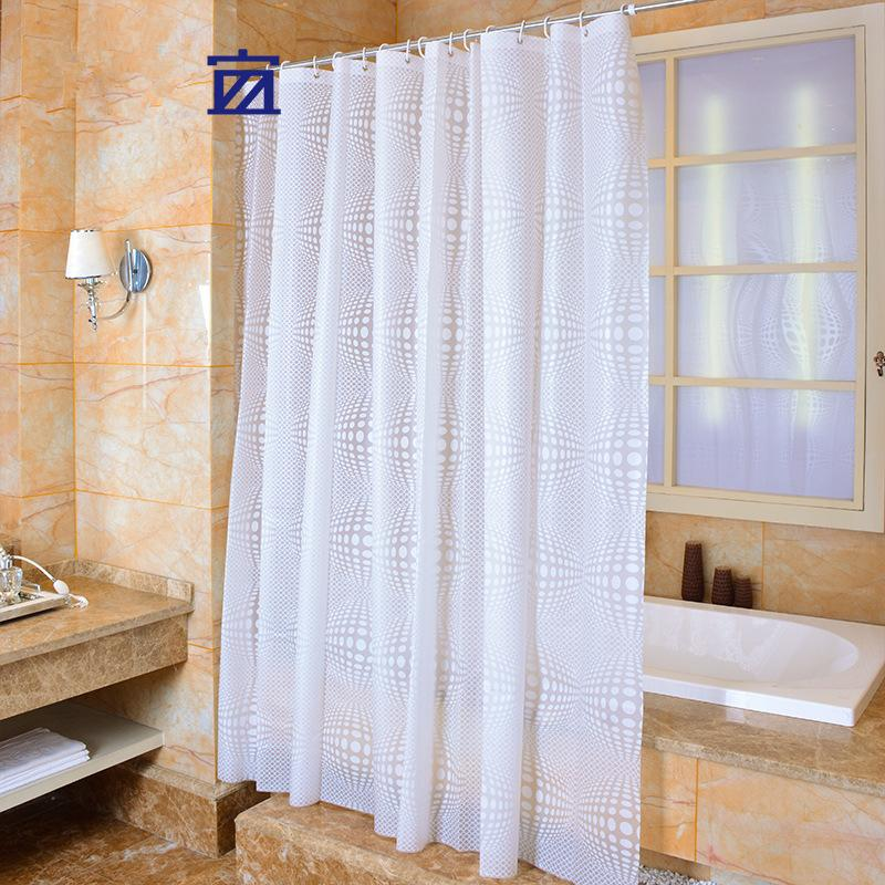 Wholesale- PEVA Shower Curtain Solid Color Fabric Plain White ...