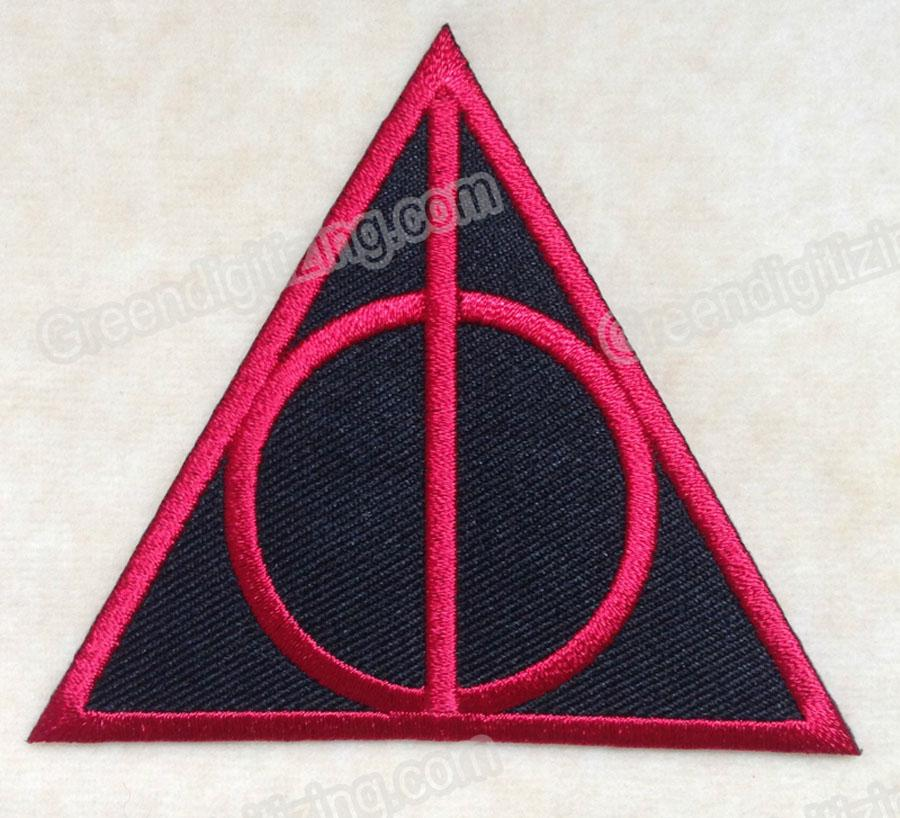 Filme HARRY POTTER MORTE DA LOUVA LOGOTIPO BORDADO FERRO NO REMENDO PATCH #RED DIY Applique Bordado Emblema Frete Grátis