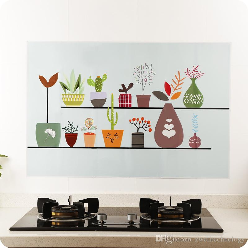 Kitchen Self Adhensive Anti Oil Wallpaper High Temperature Resistant