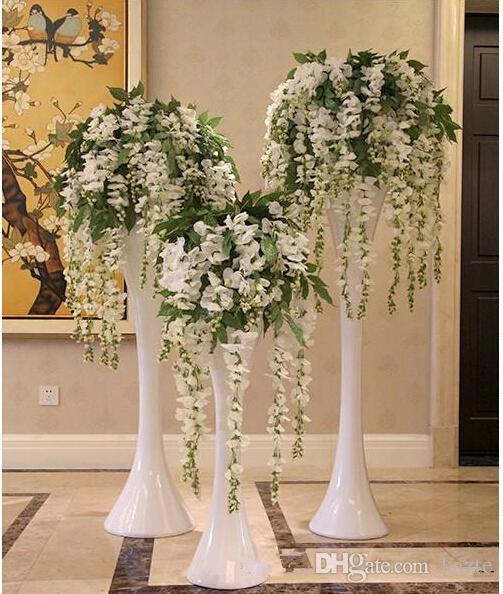 Venta caliente flor de seda flor artificial glicina vid ratán para el día de san valentín hogar jardín hotel decoración de la boda