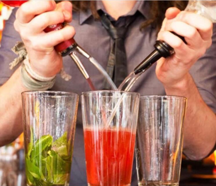 Yeni Tasarım Paslanmaz Çelik Likör Ruh Pourer Akış Şarap Şişesi Bacalı tıpa Barware Noel Partisi arz DHL dökün