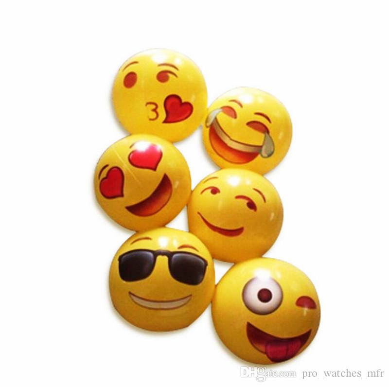 """Emoji Beach Ball For Adults Kids Inflatable PVC 12"""" Family Holiday Summer Party Favors Swimming Pool Toys DHL"""