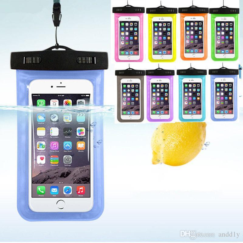 3d7180280b6 Hacer Fundas De Movil Para El Iphone 7 8 Bolso Seco Funda Impermeable Bolsa  Universal Impermeable Bolsa Sumergible A Prueba De Agua Apto Para Todo El  ...