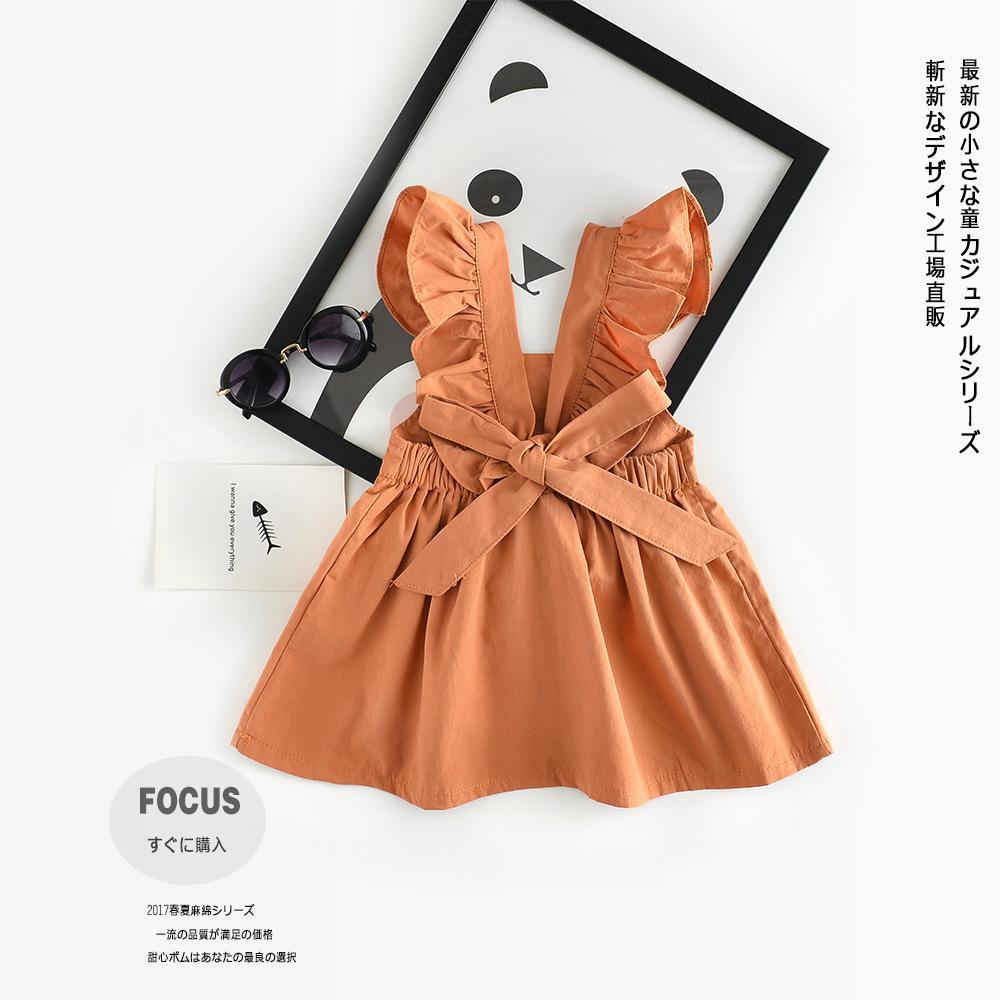 18f6f2b6c168c Nicoevaropa New Fashion Baby Girls Dresses Toddler Kids Cute Soft Vintage  Ruffle Cotton Dresses Princess Newborn Dress