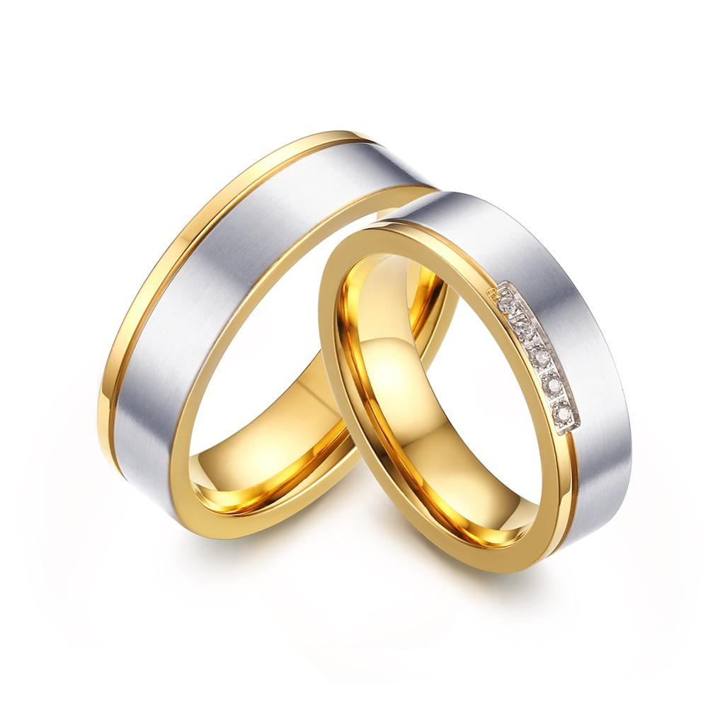 Orsa Jewelry Eternity Wedding Ring Couple Ring Stainless Steel ...
