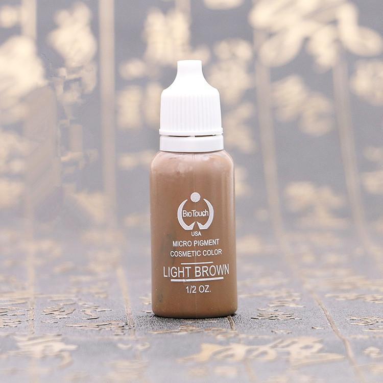 Marka 4 Renkler Kalıcı Makyaj Mürekkep Bio-Dokunmatik Mikro Pigment Kozmetik 15 ml / Şişe Setleri Tedarik Ücretsiz Kargo