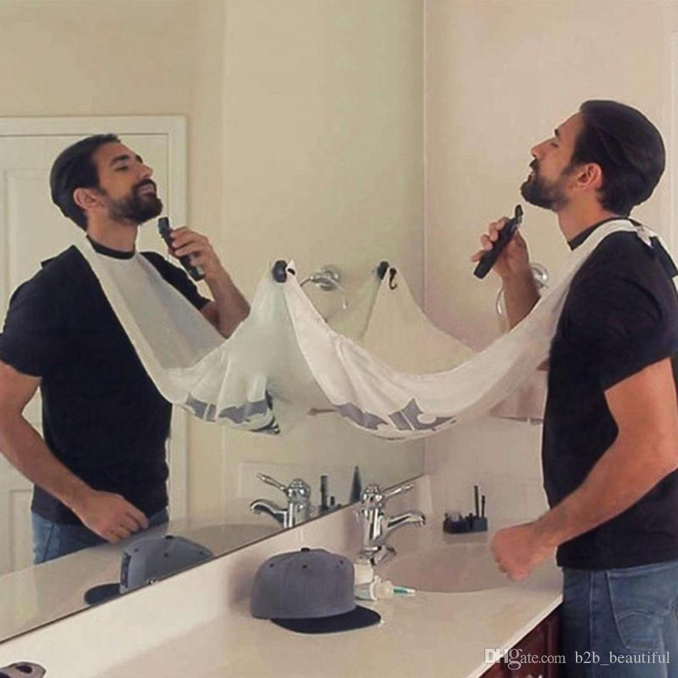 Man Bathroom Beard Care Trimmer Hair Shave Apron Gown Robe Sink Styles Tool Bathroom Apron Waterproof Floral Bib Cloth OOA2340