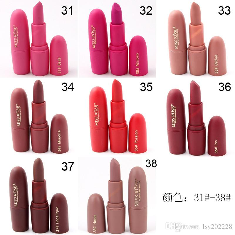 Miss Rose Matte Lipstick Bullet Lipstick Cosmetics Original Single Red Tube Dark Red Lipstick Lipstick Holder From Lsy Dhgate Com
