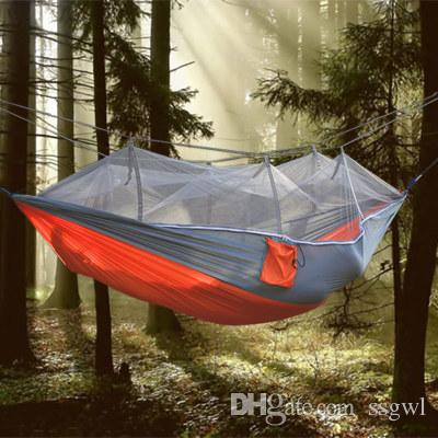 New Parachute Anti Mosquito Net Hammock Beach Tent Camping Sleeping Hammock  Portable Outdoor Leisure Hanging Bed Tree Tent Large Family Tents Best  Tents For ...