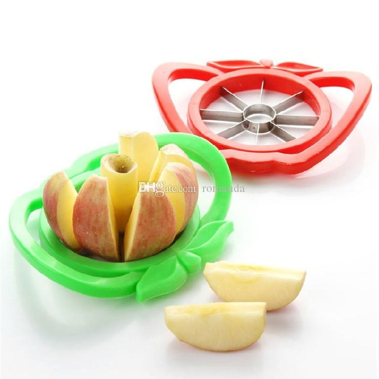 Kitchen Gadgets Corer Slicer Easy Cutter Cut Fruit Knife Cutter for Apple Pear Red Green By Random DHL Shipping Free