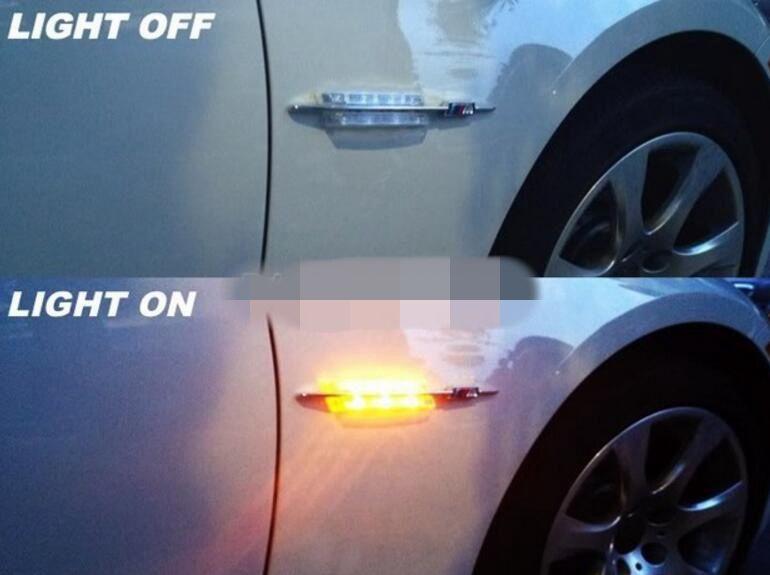 / SET LED Fender Side Turn Signals Lampe de porte SIDE Marker Light 12V SMD3528 Ampoule Kit Pour BMW E60 E61 E81 E82 E87 E88 E90 E91 E92 M Logo