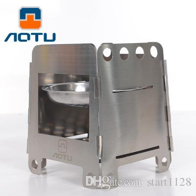 Aotu Middle Size 350g Stove Stainless Steel Folding Wood Stove Alcohol Stove  For Camping Cooking At6315 Camping Table Camp Kitchen Organizer From  Start1128, ... - Aotu Middle Size 350g Stove Stainless Steel Folding Wood Stove