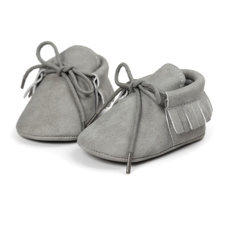 Wholesale- infantil Baby Classic Leisure PU Leather First Walkers Crib Infant Girl Boy Kids Babe Star Pattern baby moccasins Shoes