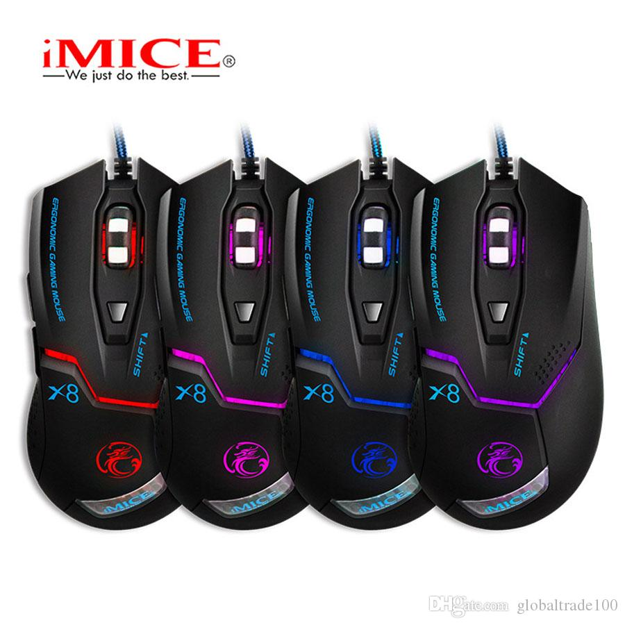 Original iMice X8 Wired Gaming Professional Mouse 3200dpi USB Optical Mouse 6 Buttons Computer Gamer Mouse For PC Laptop