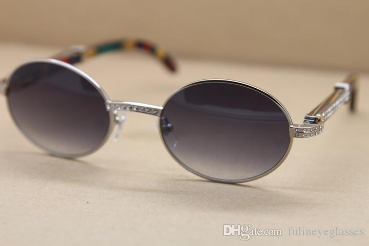 الرجال شعبية النظارات الشمسية ديكور الخشب الطاووس إطار جولة 7550178 معدن الماس نظارات C الديكور إطار الذهب glasseFrame الحجم: 55-22-135mm