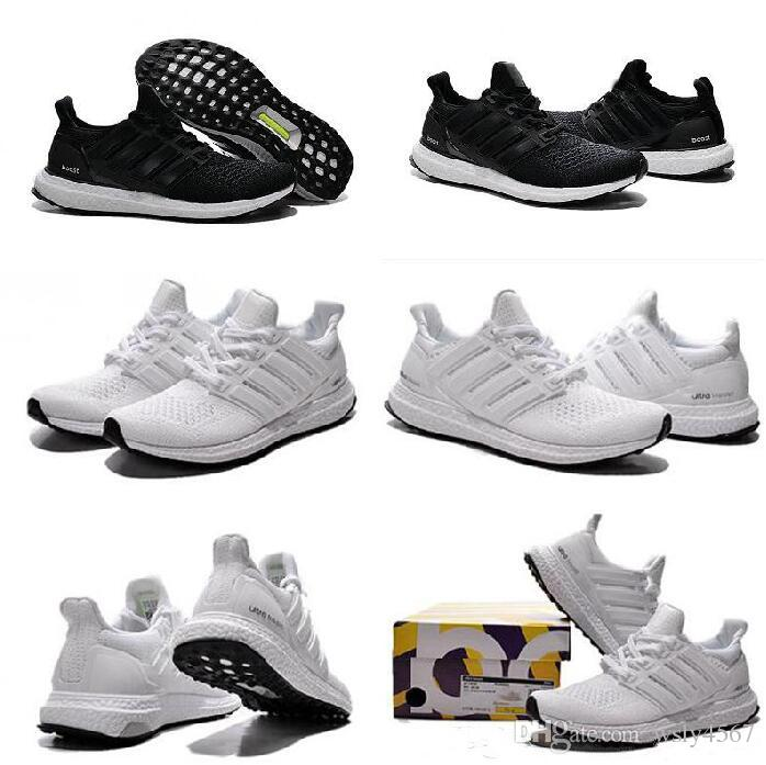 16099248cde19 2017 Ultra Boost Shoes Triple White Black Running Shoes Ultraboost ...