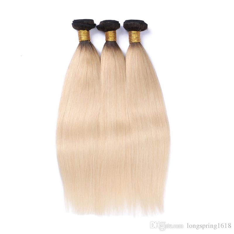 1B 613 Blonde Virgin Hair With Frontal Ear To Ear 13*4 Full Lace Frontal Closure With Bundles Straight Lace Frontal Weaves