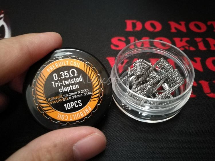 Spaced Clapton Tri-twisted Clapton Clapception Coils Wire 0.35ohm 316L Stainless Steel Material Premade Wrap Prebuilt Wires for RDA Vape