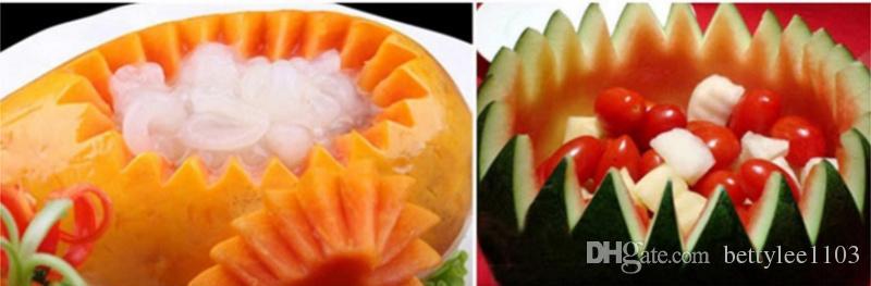 Nuovo creativo frutta tagliata da taglio utensili da intaglio in metallo anguria cucchiaio scavare la palla coltello anguria taglierina frutta verdura strumenti
