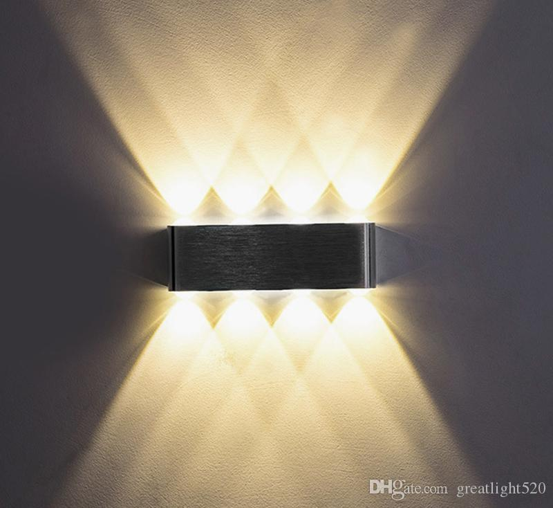 2019 Modern 6w 8w Aluminum Led Up Down Wall Light With