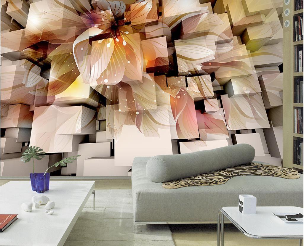 Custom Any Size Fashion 3D Home Decor 3D Stereo Fantasy Living Room TV Wall  Decorative Painting