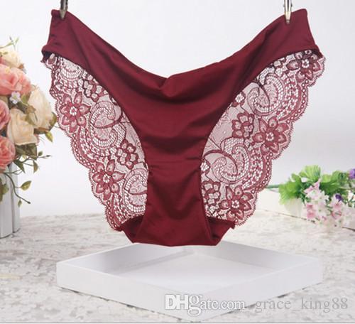 Fashion New Top quality lussuoso 3 pezzi / pacco Mutandine sexy da donna Morbido pizzo Biancheria intima sexy Ladies Sexy slip in pizzo intimo S M L XL