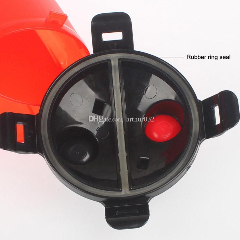 Portable Popware Dog H-Duo botella de hidratación de doble cámara con plato plegable para mascotas al aire libre Pets Food Water taza de cuencos de doble propósito colorido