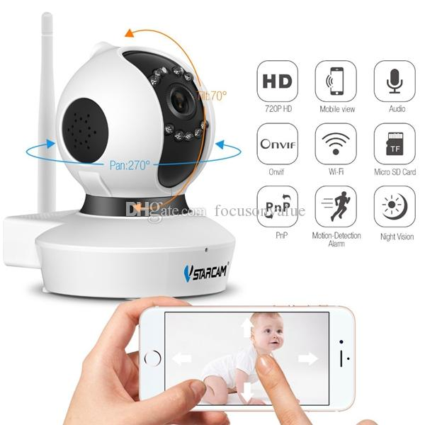 Vstarcam C7823WIP 720P HD Wireless IP-Kamera 1.0MP H.264 IR-CUT Schwenk- / Neigungsüberwachung Wifi-Kamera Startseite Überwachungskamera TF-Karte unterstützen