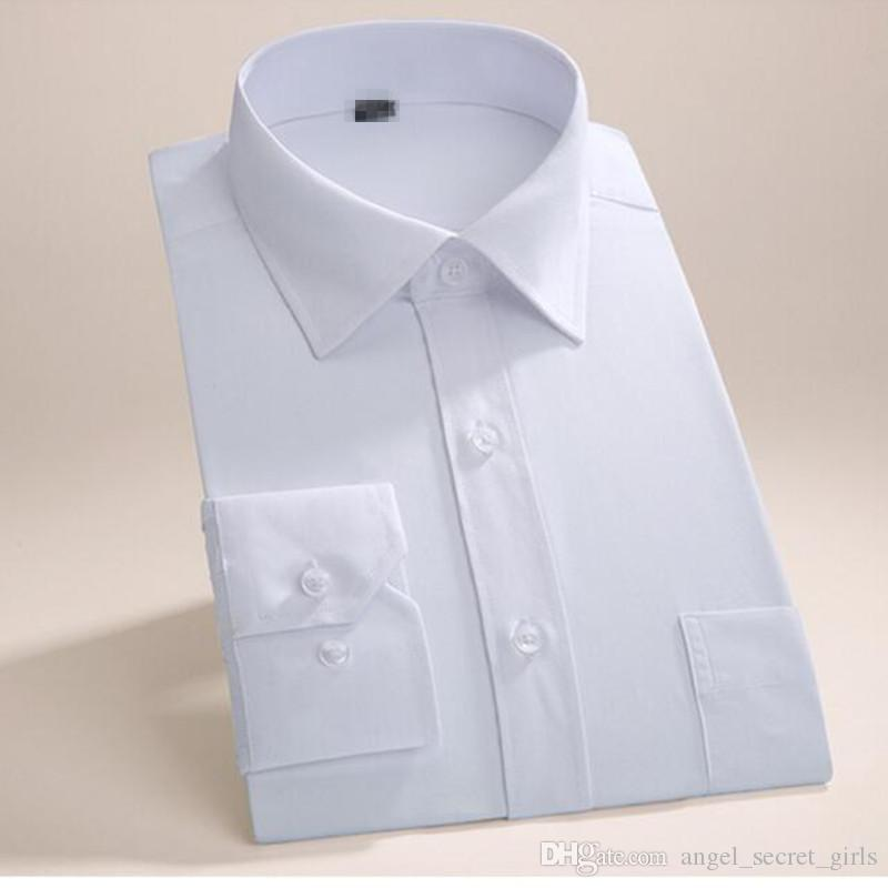 Tailor made men shirt long sleeve wedding tuxedo shirt simple fashion good quality groom best man party dress shirt