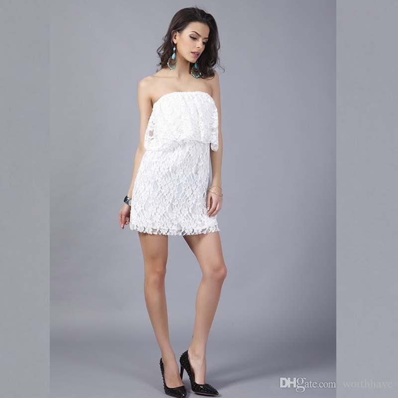 Elegante kurze kleider mit spitze