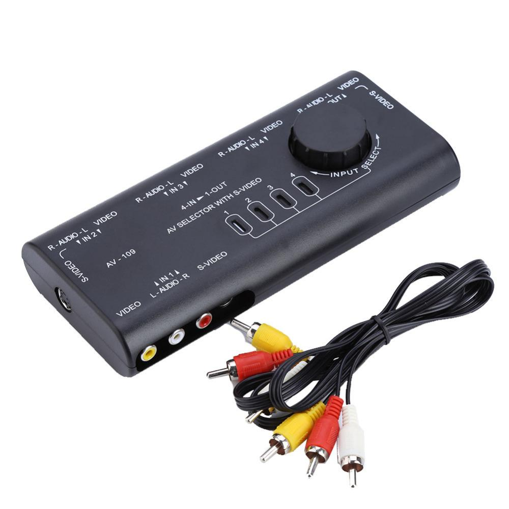 Wholesale 4 In 1 Out Av Rca Switch Box Av Audio Video Signal