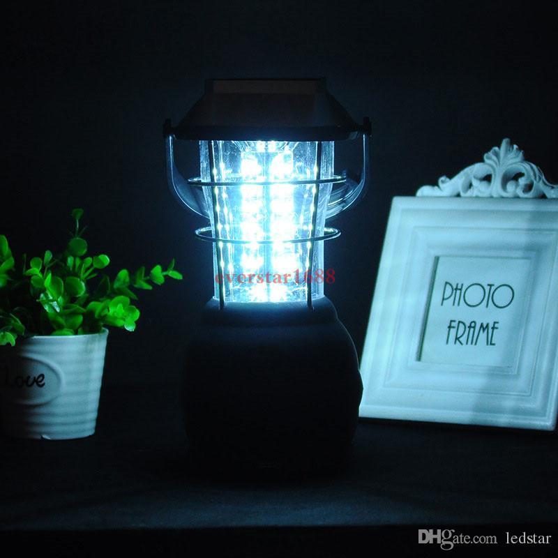 36 LED à manivelle solaire Camping Lumière 3 Modes Voiture Camping Lumière de secours Lumière Portable Camping Lantern Tente Lampe