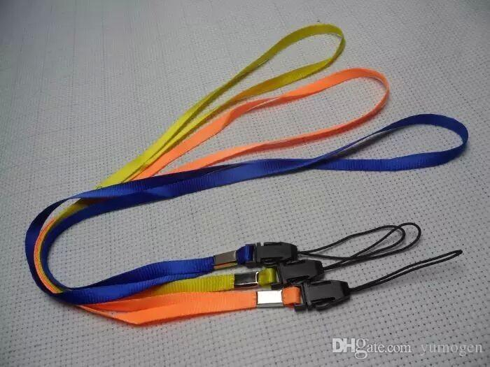 Colorfull Wrist Hang Rope Hand Straps Lanyard for Camera Cell Phone MP3 MP4 ID Card Key Straps Mobile Phone USB Holder DIY Hang Rope Lariat