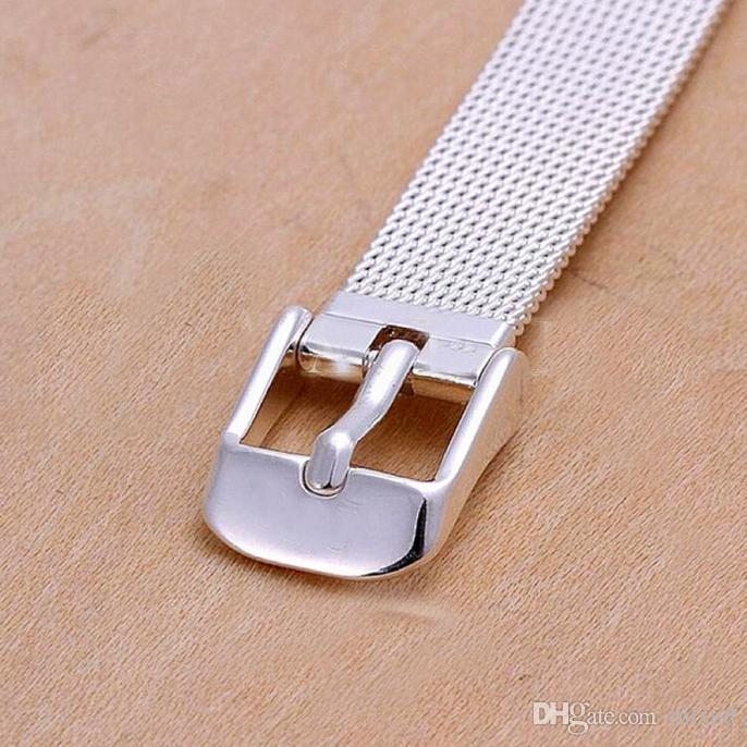 14/16/18/20/22 / 24mm Milanese Bilezikler Paslanmaz Çelik Bilek İzle Band Kadın Erkek Saat Kayışı 2.5mm Aksesuarları