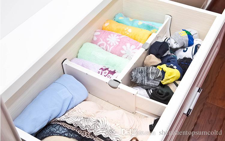 서랍 Clapboard 분배기 내각 DIY Storage Organizer 고품질 플라스틱 물막이 판 분배기
