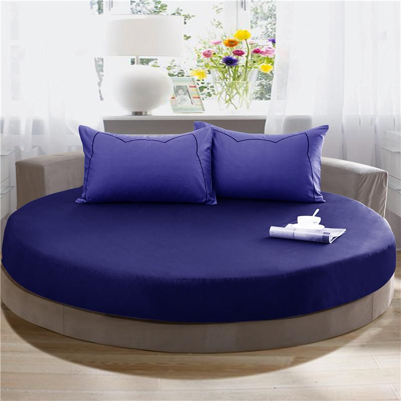 Wholesale 100 Cotton Round Beds 1 Fitted Sheet 2 Pillowcase  - Round Beds